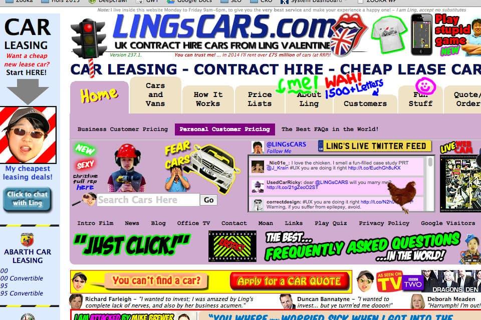 lingscars.com : un design professionnel..ou bien l'exception à la règle ?