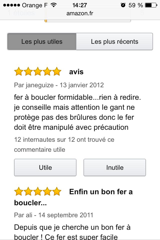 Avis Amazon