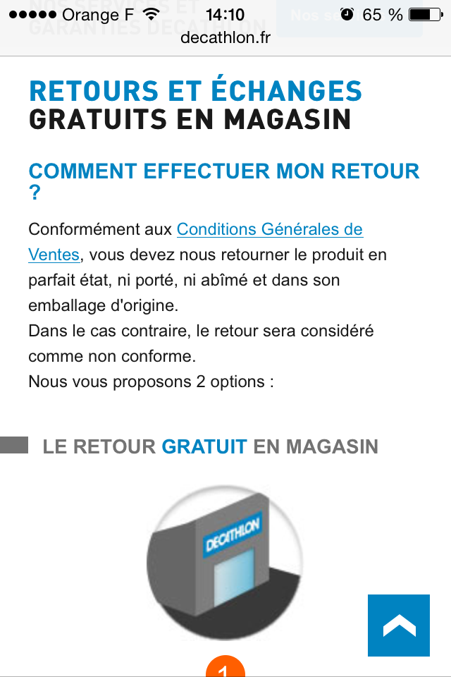 Retour Decathlon
