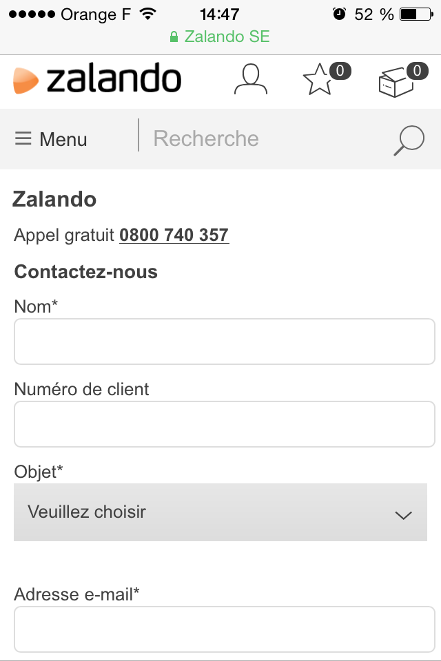 Contact Zalando