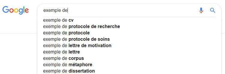 recherche intuitive Google SEO