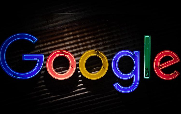 Google logo in neon